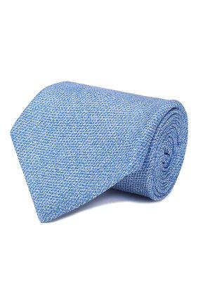 Мужской шелковый галстук KITON светло-голубого цвета, арт. UCRVKLC02G80 | Фото 1