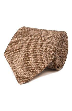 Мужской шелковый галстук KITON коричневого цвета, арт. UCRVKLC02G80 | Фото 1
