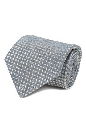 Мужской галстук из смеси шелка и льна KITON серого цвета, арт. UCRVKLC02G84 | Фото 1
