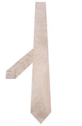 Мужской галстук из смеси шелка и льна KITON бежевого цвета, арт. UCRVKLC02G84 | Фото 2