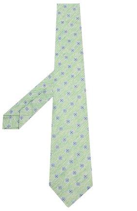Мужской галстук из смеси льна и шелка KITON зеленого цвета, арт. UCRVKLC02G88 | Фото 2