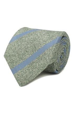 Мужской шелковый галстук KITON зеленого цвета, арт. UCRVKLC03G53 | Фото 1