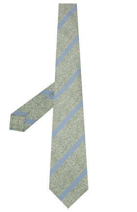 Мужской шелковый галстук KITON зеленого цвета, арт. UCRVKLC03G53 | Фото 2