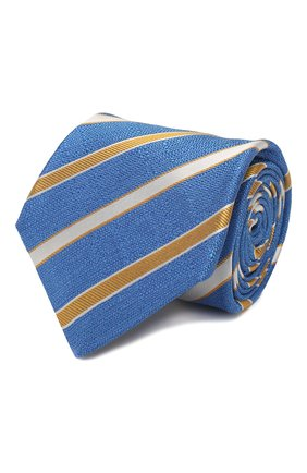 Мужской шелковый галстук KITON синего цвета, арт. UCRVKLC03G77 | Фото 1