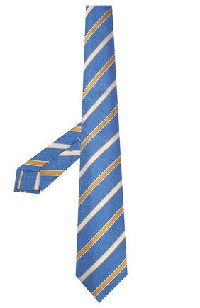 Мужской шелковый галстук KITON синего цвета, арт. UCRVKLC03G77 | Фото 2