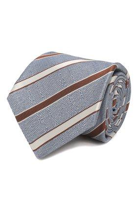 Мужской шелковый галстук KITON серого цвета, арт. UCRVKLC03G77 | Фото 1