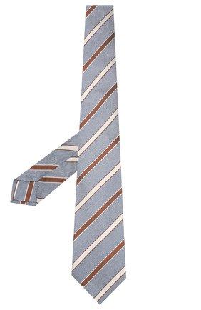 Мужской шелковый галстук KITON серого цвета, арт. UCRVKLC03G77 | Фото 2