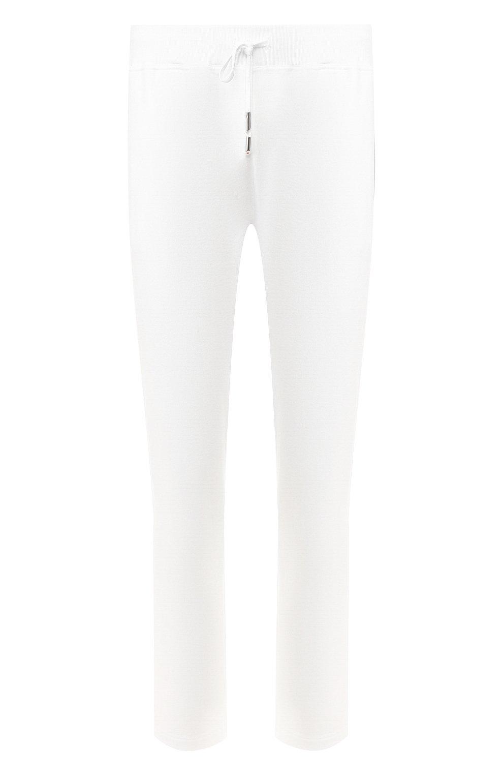 Мужские хлопковые брюки KITON белого цвета, арт. UK1051   Фото 1