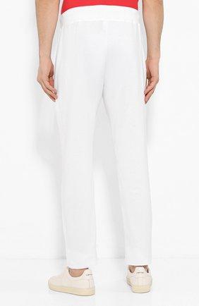 Мужские хлопковые брюки KITON белого цвета, арт. UK1051   Фото 4