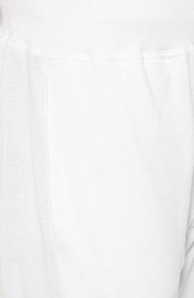 Мужские хлопковые брюки KITON белого цвета, арт. UK1051   Фото 5