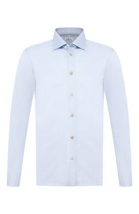 Мужская хлопковая рубашка KITON голубого цвета, арт. UMCNERH0721702 | Фото 1