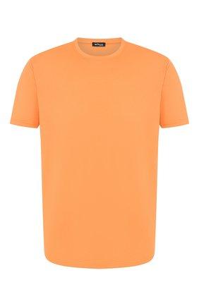 Мужская футболка из смеси хлопка и кашемира KITON оранжевого цвета, арт. UMK0012 | Фото 1