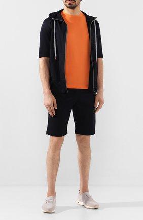 Мужская футболка из смеси хлопка и кашемира KITON оранжевого цвета, арт. UMK0012 | Фото 2