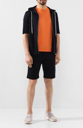 Мужской хлопковый спортивный костюм KITON темно-синего цвета, арт. UMTCGYMK06R49 | Фото 1