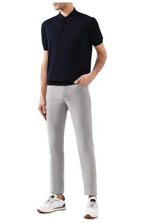 Мужские брюки KITON серого цвета, арт. UPNJSJ07S73   Фото 2