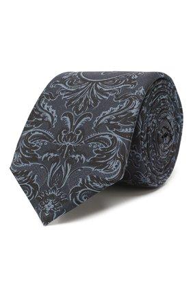 Мужской шелковый галстук DOLCE & GABBANA темно-синего цвета, арт. GT149E/G0WMJ   Фото 1