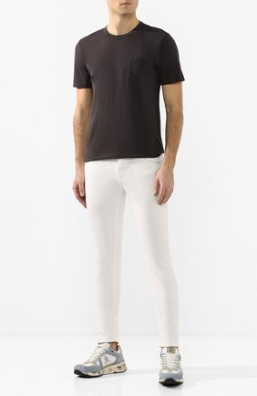 Мужская хлопковая футболка COTTON CITIZEN темно-серого цвета, арт. M6003105 | Фото 2