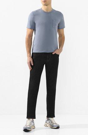 Мужская хлопковая футболка COTTON CITIZEN голубого цвета, арт. M6003105 | Фото 2
