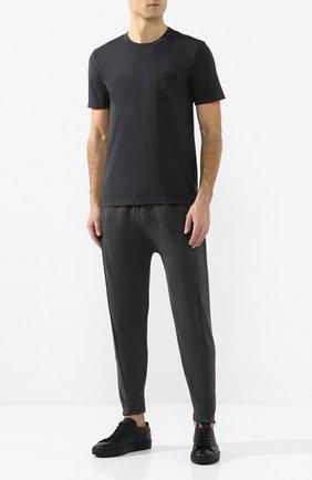 Мужская хлопковая футболка COTTON CITIZEN темно-синего цвета, арт. M6003105 | Фото 2