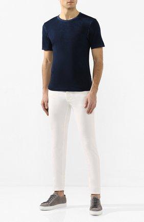 Мужская хлопковая футболка COTTON CITIZEN темно-синего цвета, арт. M60011 | Фото 2