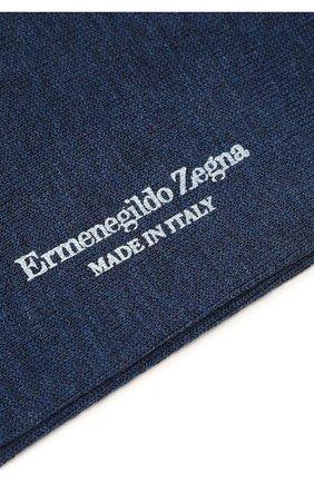 Мужские хлопковые носки ERMENEGILDO ZEGNA синего цвета, арт. N5V402890 | Фото 2