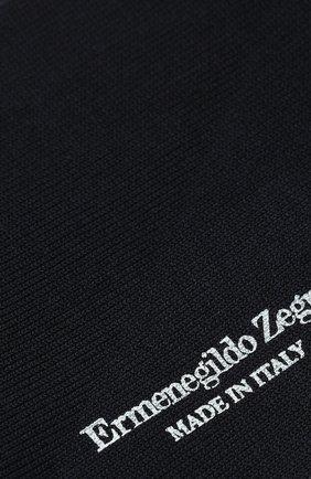 Мужские хлопковые носки ERMENEGILDO ZEGNA темно-синего цвета, арт. N5V402890 | Фото 2