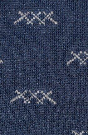 Мужские носки ERMENEGILDO ZEGNA синего цвета, арт. N5V023020 | Фото 2
