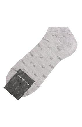 Мужские носки ERMENEGILDO ZEGNA серого цвета, арт. N5V023020 | Фото 1
