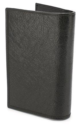 Мужская кожаная обложка для паспорта GUCCI черного цвета, арт. 597673/1GZ0X | Фото 2