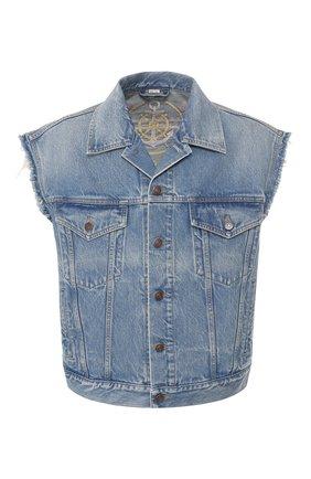 Мужской джинсовый жилет GUCCI синего цвета, арт. 599985/XDA1A | Фото 1