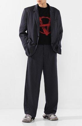Мужской брюки VETEMENTS темно-синего цвета, арт. SS20PA144 1327/M   Фото 2