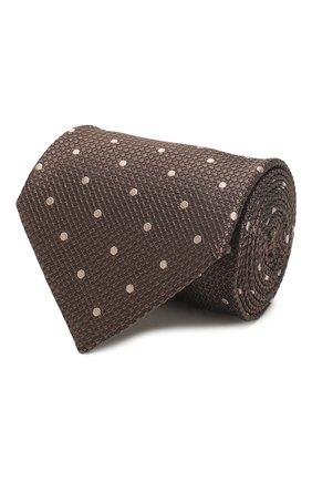 Мужской шелковый галстук TOM FORD коричневого цвета, арт. 7TF09/XTF   Фото 1