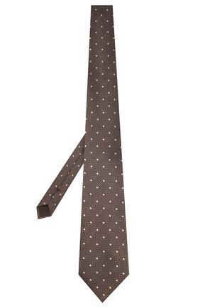 Мужской шелковый галстук TOM FORD коричневого цвета, арт. 7TF09/XTF   Фото 2