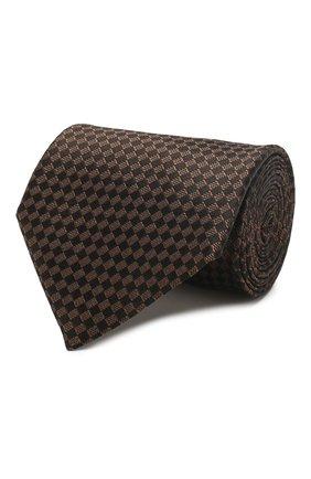 Мужской шелковый галстук TOM FORD коричневого цвета, арт. 7TF11/XTF   Фото 1