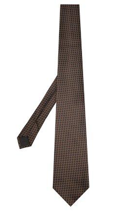 Мужской шелковый галстук TOM FORD коричневого цвета, арт. 7TF11/XTF   Фото 2