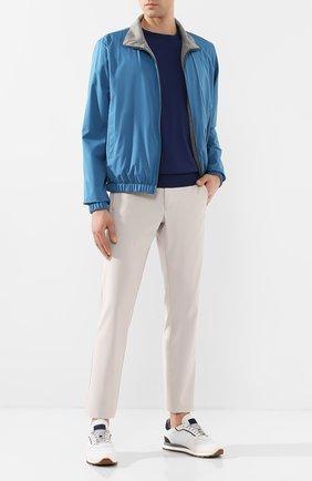 Мужские брюки LORO PIANA серого цвета, арт. FAL0412 | Фото 2 (Материал внешний: Шерсть, Синтетический материал; Статус проверки: Проверена категория; Случай: Повседневный; Стили: Кэжуэл)