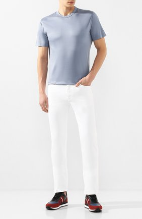 Мужские джинсы CANALI белого цвета, арт. 91500/PT00625 | Фото 2