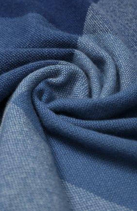 Мужской кашемировый шарф LORO PIANA синего цвета, арт. FAL0168 | Фото 2