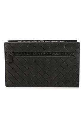 Мужская кожаный футляр для документов BOTTEGA VENETA черного цвета, арт. 609904/VCPQ3 | Фото 1