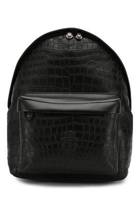 Мужской рюкзак из кожи крокодила BILLIONAIRE черного цвета, арт. 000 MBA0882 BLE007C   Фото 1