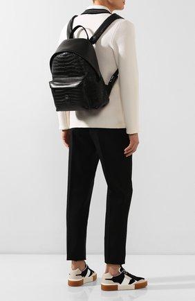 Мужской рюкзак из кожи крокодила BILLIONAIRE черного цвета, арт. 000 MBA0882 BLE007C   Фото 2