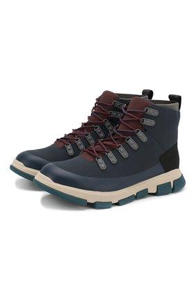 Мужские кожаные ботинки SWIMS темно-синего цвета, арт. 21312 | Фото 1