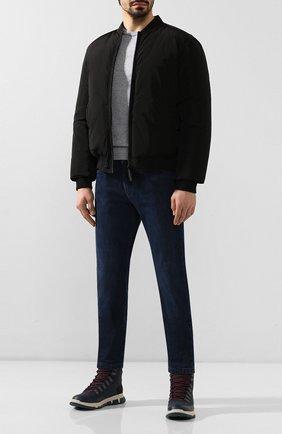 Мужские кожаные ботинки SWIMS темно-синего цвета, арт. 21312 | Фото 2