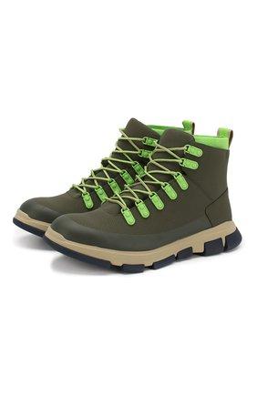 Мужские кожаные ботинки SWIMS зеленого цвета, арт. 21312 | Фото 1