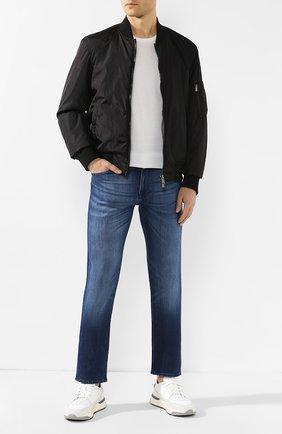 Мужские джинсы BOSS синего цвета, арт. 50421067   Фото 2