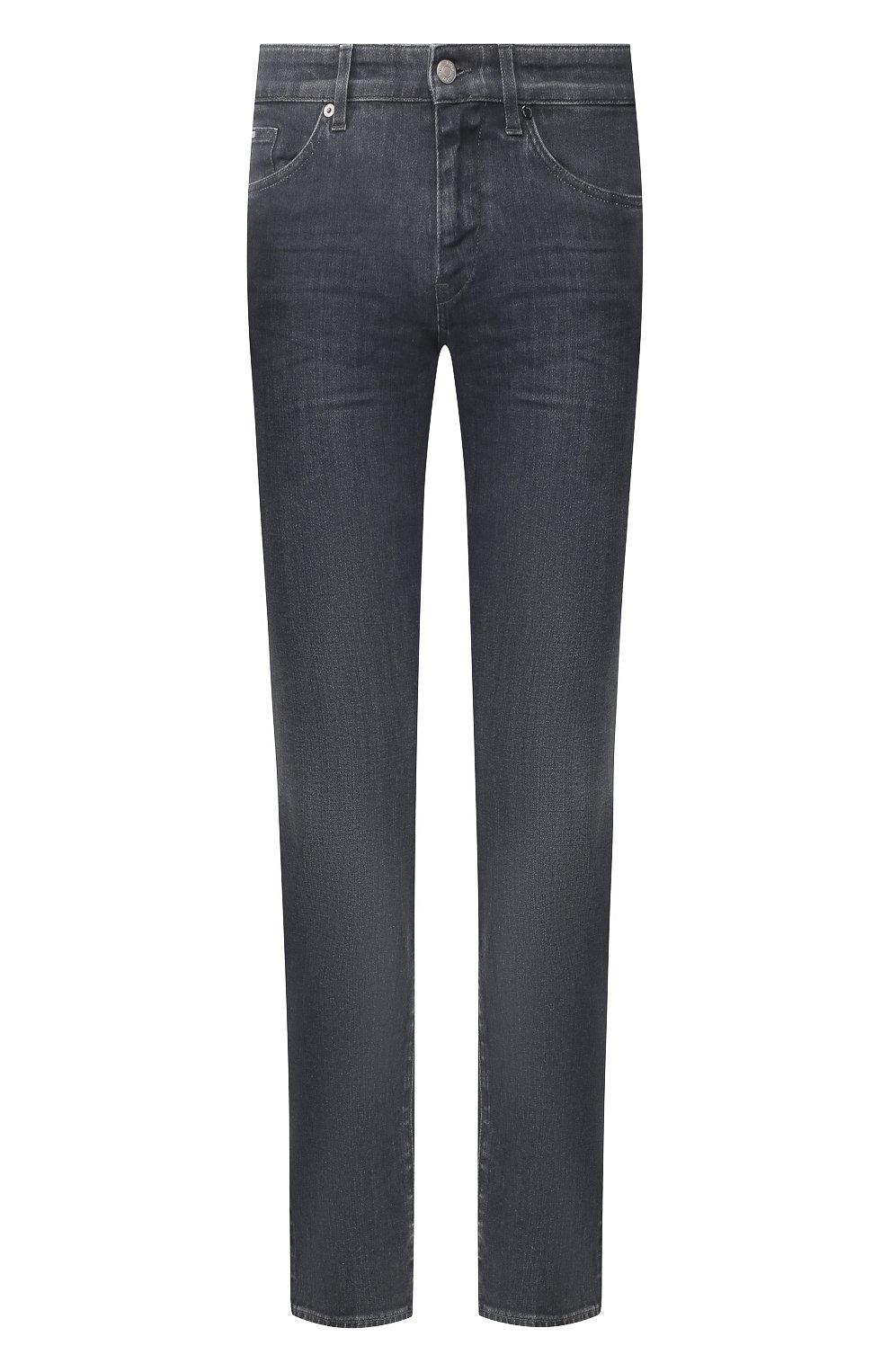Мужские джинсы BOSS темно-серого цвета, арт. 50420864 | Фото 1