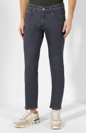 Мужские джинсы BOSS темно-серого цвета, арт. 50420864 | Фото 3