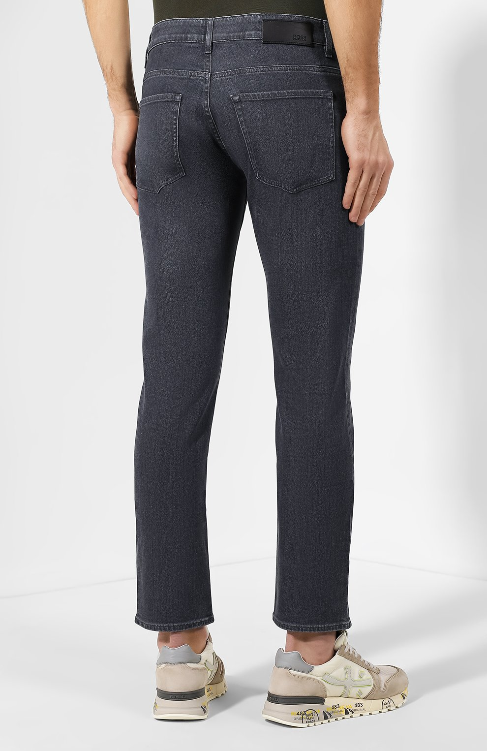 Мужские джинсы BOSS темно-серого цвета, арт. 50420864 | Фото 4