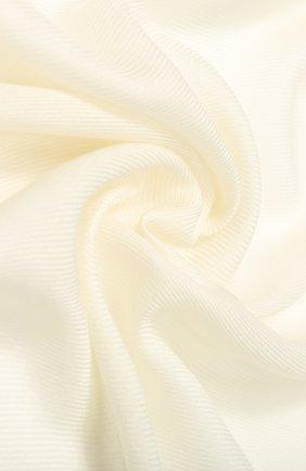 Женская шарф l'infinito из смеси кашемира и шелка LORO PIANA белого цвета, арт. FAI0969 | Фото 2