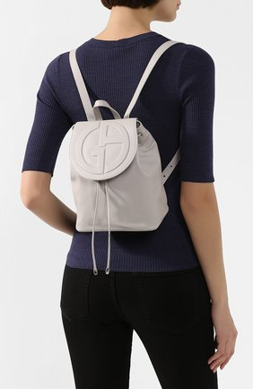 Женский рюкзак GIORGIO ARMANI белого цвета, арт. Y1L012/YSV4E | Фото 2